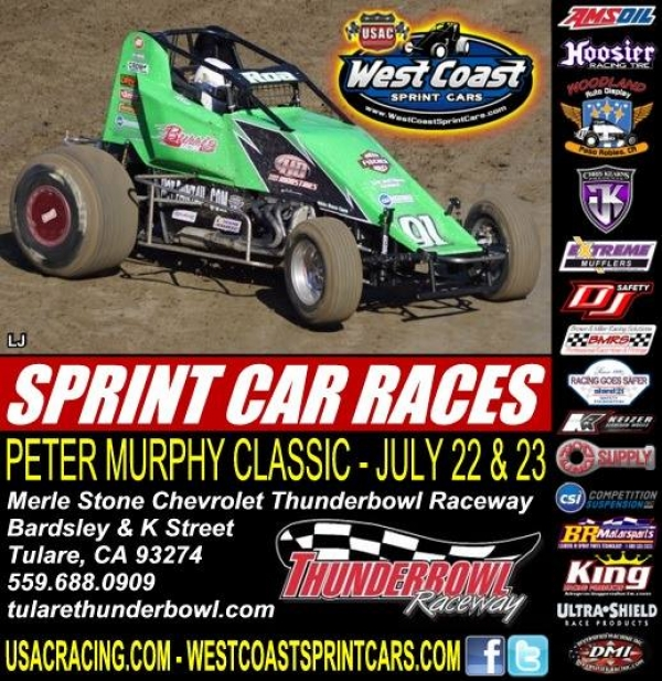"WEST COAST SPRINTS TAKE ON TULARE'S ""PETER MURPHY CLASSIC"" DOUBLEHEADER"