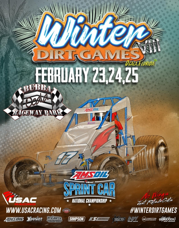 WINTER DIRT GAMES NIGHT ONE FALLS TO RAIN; RACES STILL ON SCHEDULE FOR FRIDAY, SATURDAY