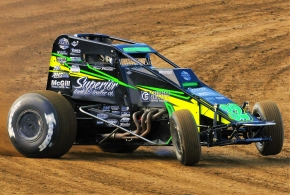 #32 Fort Branch, Indiana's Chase Stockon - 4th in USAC AMSOIL National Sprint Car points.