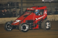 "Gage Walker at speed during the ""Junior Knepper 55"" at Du Quoin's Southern Illinois Center in December of 2015."