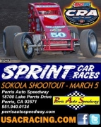 SOKOLA SHOOTOUT CRA SPRINT OPENER AT PERRIS SATURDAY NIGHT