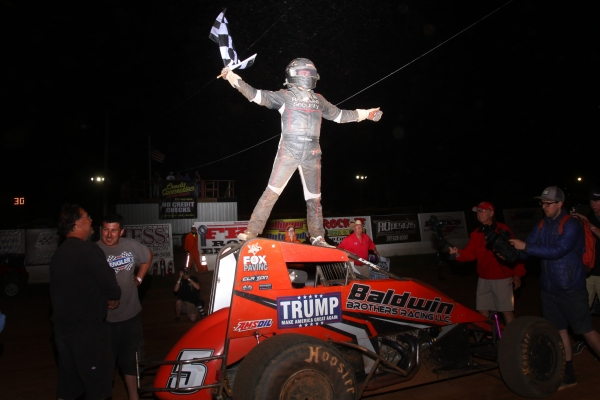 "Chris Windom takes the victory at the 2016 ""Eastern Storm"" finale at Susquehanna Speedway in York Haven, PA."