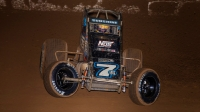Tyler Courtney won his second-straight Western World USAC AMSOIL National Sprint Car feature Saturday at Arizona Speedway.
