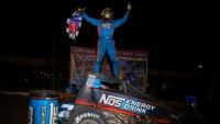 Tyler Courtney captured Friday night's USAC AMSOIL National Sprint Car victory on night #1 of the Western World Championships at Arizona Speedway.