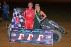 Zeb Wise's first race following a collarbone injury two months ago resulted in his first career USAC P1 Insurance National Midget feature victory.