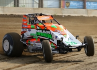 "USAC AMSOIL National Sprint Car point leader Brady Bacon was the 2014 ""Jim Hurtubise Classic"" Winner."