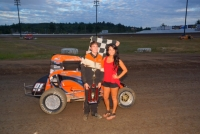Chase Goetz poses after winning at Grays Harbor Saturday.