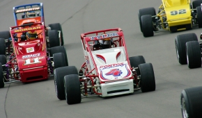 #4 Brian Tyler won a pair of USAC National Sprint Car titles for car owner Larry Contos in 1996-97.