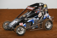 "Broken Arrow, Oklahoma's Brady Bacon was the fastest driver in Wednesday's ""Turkey Night Grand Prix"" practice at California's Ventura Raceway."
