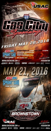 SPRINTS EYE GAS CITY, BROWNSTOWN THIS WEEKEND