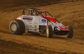 J.J. Yeley on the gas at the Terre Haute (Ind.) Action Track en route to the 2003 USAC Silver Crown title.