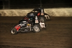 Rico Abreu (67) came out on top of a lead-swapping display with his teammate Chris Bell on Saturday at Eldora.