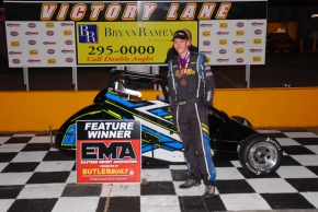 Jake Nelke wins at Anderson Motor Speedway.