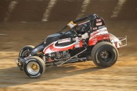 Justin Grant won Saturday night's USAC AMSOIL National Sprint Car feature at Eldora Speedway.