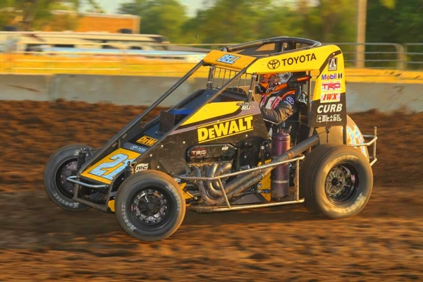 Christopher Bell tied A.J. Foyt for 31st on the all-time USAC National Midget win list with his 20th career win Wednesday night at Solomon Valley Raceway in Beloit, Kansas.