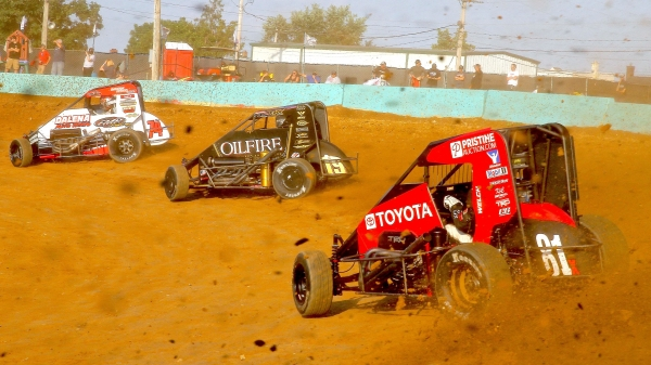 USAC NOS Energy Drink National Midgets sling the dirt at Action Track USA.