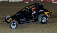 "2017 Eldora ""4-Crown"" USAC Silver Crown winner Tyler Courtney."