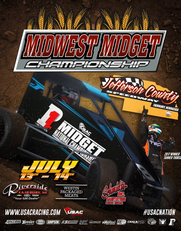 JULY 13-14 MIDWEST MIDGET CHAMPIONSHIP ENTRY LIST RELEASED