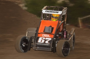 Tanner Thorson won last Tuesday's USAC Midget National Championship feature at Lanco's Clyde Martin Memorial Speedway in Newmanstown, Pennsylvania.