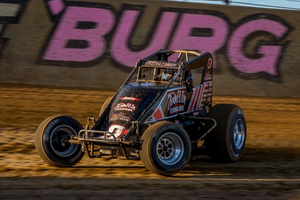 "Kevin Thomas, Jr. won $10,000 with Saturday night's ""Fall Nationals"" victory at Lawrenceburg (Ind.) Speedway."