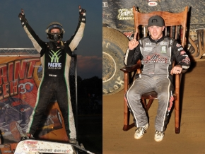 Robert Ballou (Left) won the Indiana Sprint Week finale at Lincoln Park Speedway while Kevin Thomas, Jr. (right) captured his first ISW title.