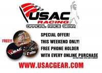 SPECIAL OFFER ON USAC GEAR THIS WEEKEND ONLY!