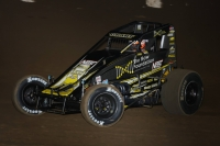 "Justin Grant was victorious in Thursday night's ""Oval Nationals"" opener at California's Perris Auto Speedway."
