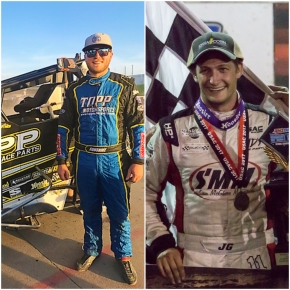 I-80 winner Tyler Courtney (left) and Knoxville winner Justin Grant (right).