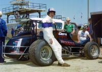 1982 USAC National Sprint Car champion Sheldon Kinser of Bloomington, Indiana