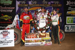 CLAUSON CAPTURES CANYON; BACON TAKES NATIONAL SPRINT CAR TITLE