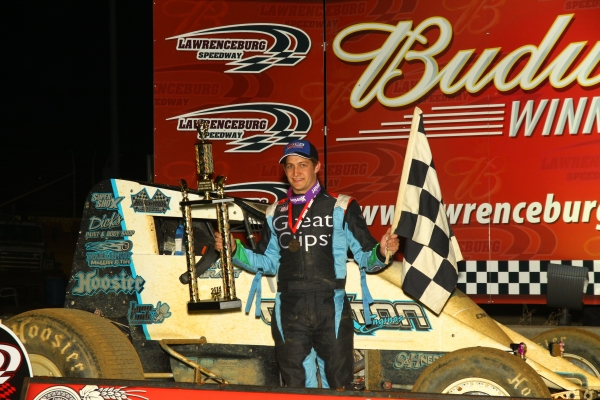 GRANT GRABS LATE-RACE LAWRENCEBURG SPRINT CAR VICTORY