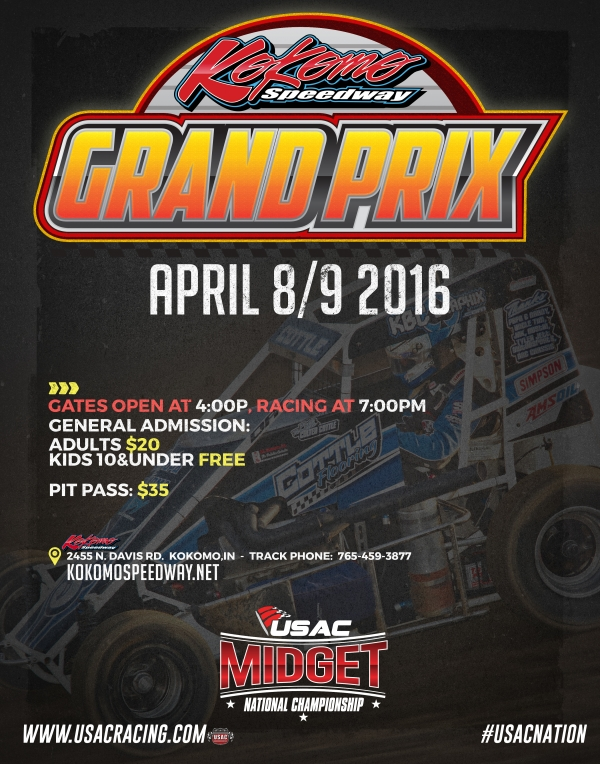 WIDE OPEN KOKOMO MIDGET GRAND PRIX EXPECTED THIS FRI.-SAT.