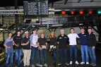 The winning team of Tuessday night's USAC Benevolent Foundation 3-Hour Karting Enduro at Fastimes in Indianapolis.