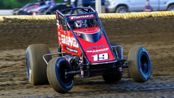 Cullman, Alabama's #19 Kevin Thomas, Jr. (5th in USAC AMSOIL National Sprint Car points).