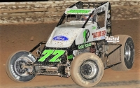 R.J. Johnson picked up series-leading 34th career USAC Southwest Sprint Car win last Saturday night at Arizona Speedway.