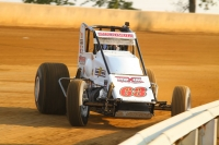"2010 ""Ted Horn 100"" winner and current USAC Silver Crown point leader, Kody Swanson."