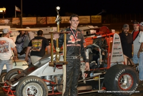 Nic Faas after Friday's win at Perris Auto Speedway