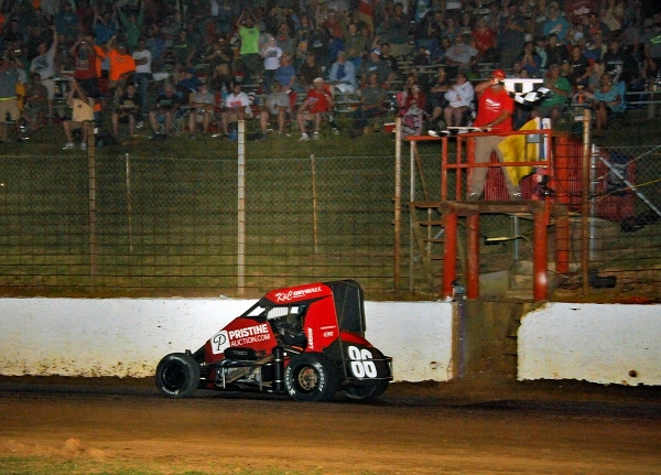 Kyle Larson enters Wednesday's round of Indiana Midget Week as the IMW point leader following Tuesday's win at Paragon.