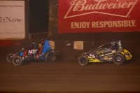 The top-two in Oval Nationals points heading into Saturday night's finale at Perris Auto Speedway: #7BC Tyler Courtney and #4 Justin Grant.