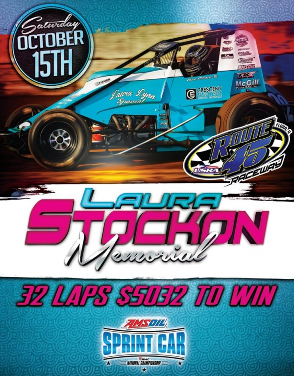 LAURA STOCKON MEMORIAL AT ROUTE 45 RACEWAY BRINGS AMSOIL SPRINT SLATE TO 47 RACES