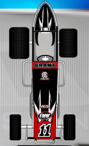 An artist's concept of the Sam McGhee Motorsports USAC AMSOIL National Sprint Car that will be piloted by Justin Grant in 2017.