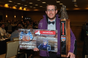Ronnie Gardner, pictured at the recent USAC Western Awards Banquet.