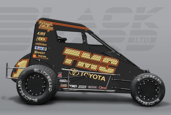 The Tucker/Boat Motorsports, TMC No. 1 that Karsyn Elledge will drive in selected events on the USAC NOS Energy National Midget tour in 2019.