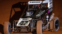 Top USAC NOS Energy Drink National Midget Rookie Andrew Layser (#47BC) will attempt to grab Don Basile Rookie of the Race honors on Nov. 28 at the Turkey Night Grand Prix.