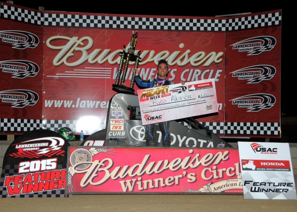 ABREU ATTACKS FOR LAWRENCEBURG MIDGET WEEK TRIUMPH