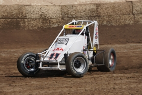 #11 Troy Rutherford won last Saturday night's feature at Ventura.