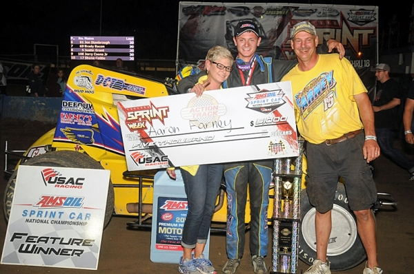 FANTASTIC FARNEY WINS FIRST CAREER IN TERRE HAUTE