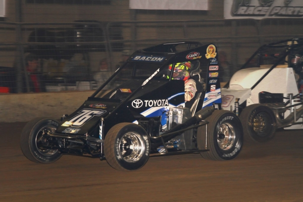 Two-time USAC AMSOIL National Sprint Car champion Brady Bacon.