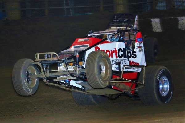 "Thomas Meseraull goes wheels up at the 2016 ""Oval Nationals."""