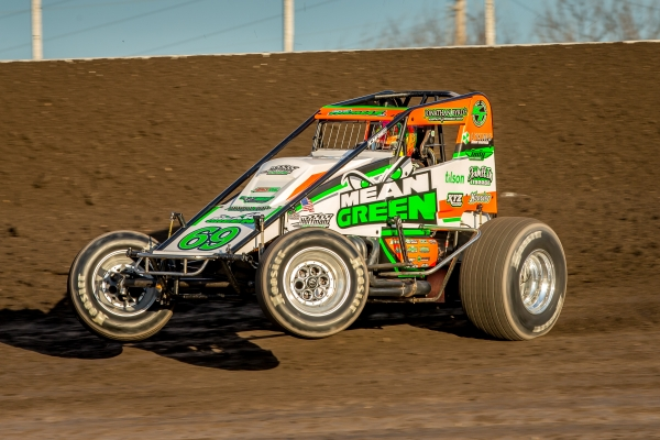 "Kevin Thomas, Jr. captured his first win for the Dynamics, Inc. team Saturday night in the ""Spring Showdown"" at Tri-State Speedway in Haubstadt, Indiana."